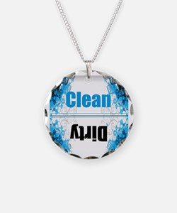 Funny Dishwasher clean dirty Necklace