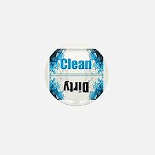 Dishwasher clean dirty Mini Button