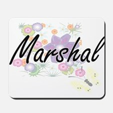 Marshal Artistic Job Design with Flowers Mousepad