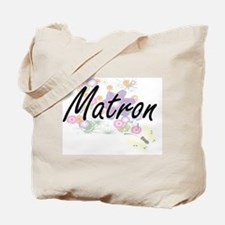 Matron Artistic Job Design with Flowers Tote Bag
