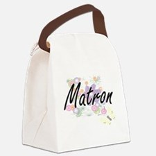 Matron Artistic Job Design with F Canvas Lunch Bag