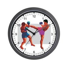 KickBoxers Wall Clock