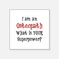 "osteopath Square Sticker 3"" x 3"""