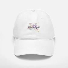 Mineralogist Artistic Job Design with Flowers Baseball Baseball Cap