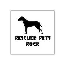 Rescued Pets Rock Sticker