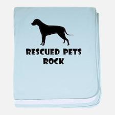 Rescued Pets Rock baby blanket