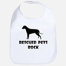 Rescued Pets Rock Bib