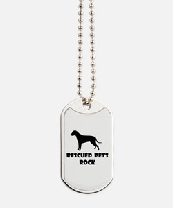 Rescued Pets Rock Dog Tags