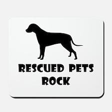 Rescued Pets Rock Mousepad