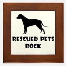 Rescued Pets Rock Framed Tile