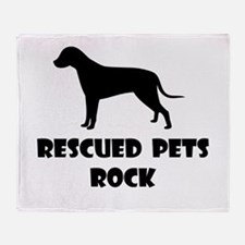 Rescued Pets Rock Throw Blanket