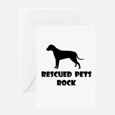 Rescued Pets Rock Greeting Cards