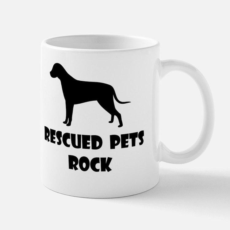 Rescued Pets Rock Mugs