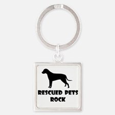 Rescued Pets Rock Keychains