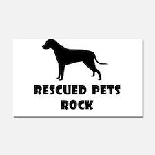 Rescued Pets Rock Car Magnet 20 x 12