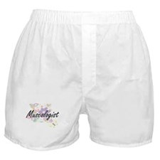 Muscologist Artistic Job Design with Boxer Shorts