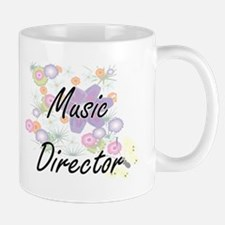 Music Director Artistic Job Design with Flowe Mugs