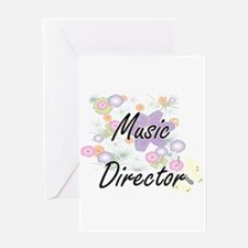 Music Director Artistic Job Design Greeting Cards