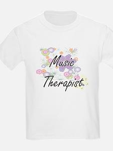 Music Therapist Artistic Job Design with F T-Shirt