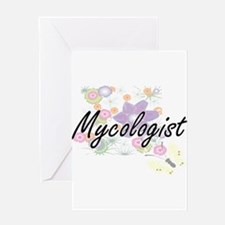 Mycologist Artistic Job Design with Greeting Cards