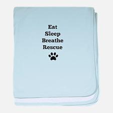 Eat Sleep Breathe Rescue baby blanket