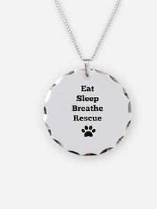 Eat Sleep Breathe Rescue Necklace