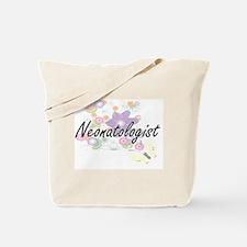Neonatologist Artistic Job Design with Fl Tote Bag