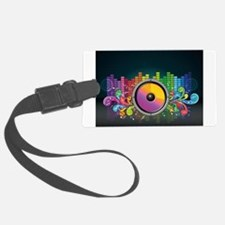 Rainbow Music Beats Luggage Tag