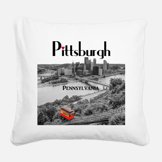 Pittsburgh Square Canvas Pillow