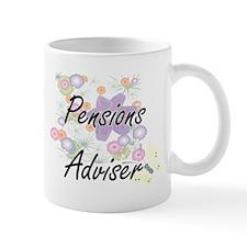 Pensions Adviser Artistic Job Design with Flo Mugs
