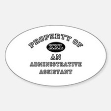 Property of an Administrative Assistant Decal
