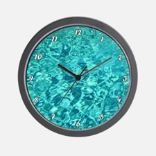 TURQUOISE WATER Wall Clock