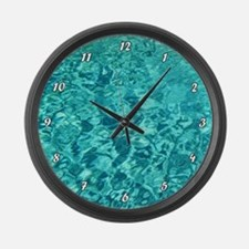 TURQUOISE WATER Large Wall Clock
