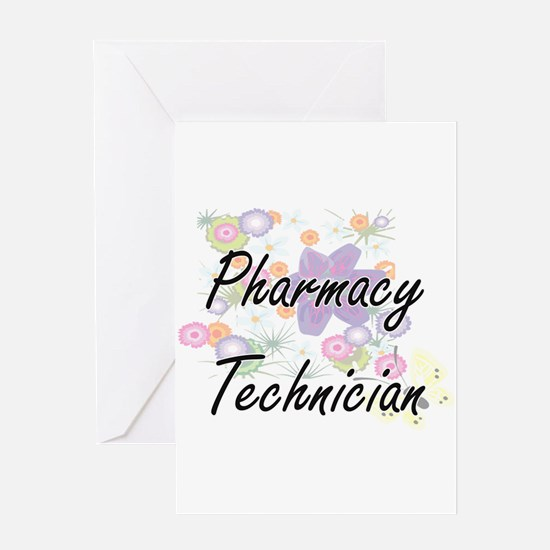 Pharmacy Technician Artistic Job De Greeting Cards