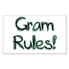 Gram Rules! Rectangle Decal