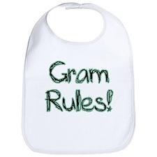 Gram Rules! Baby Bib