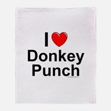 Donkey Punch Throw Blanket