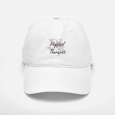 Physical Therapist Artistic Job Design with Fl Baseball Baseball Cap