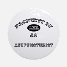 Property of an Acupuncturist Ornament (Round)