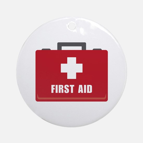 First Aid Round Ornament