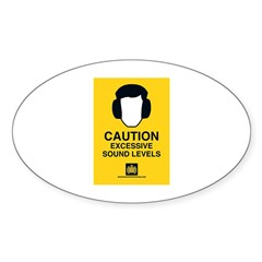 caution Oval Decal