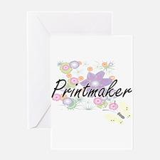 Printmaker Artistic Job Design with Greeting Cards