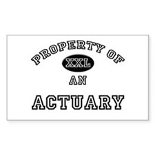 Property of an Actuary Rectangle Decal