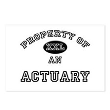 Property of an Actuary Postcards (Package of 8)