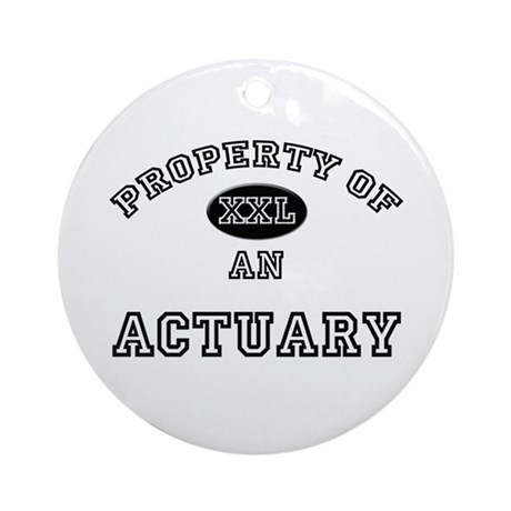 Property of an Actuary Ornament (Round)