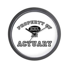 Property of an Actuary Wall Clock