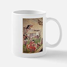 Japanese Traditional Art - 47 Ronin Attacking Mugs
