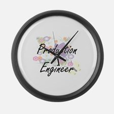 Production Engineer Artistic Job Large Wall Clock