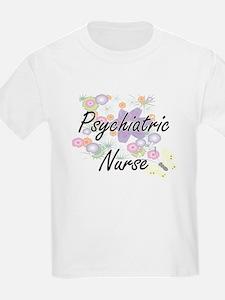 Psychiatric Nurse Artistic Job Design with T-Shirt
