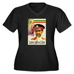 love JAH JAH Women's Plus Size V-Neck Dark T-Shirt